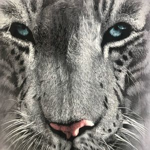 The Mountain White Tiger Face Tee